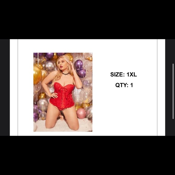 red corset from shein
